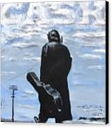 Johnny Cash - Going To Jackson Canvas Print by Eric Dee