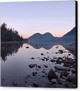 Jordan Pond Reflections - Acadia Canvas Print by Stephen  Vecchiotti