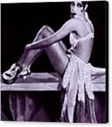 Josephine Baker 1906-1975, African Canvas Print by Everett
