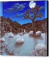 Joshua Tree At Night Canvas Print by Snake Jagger