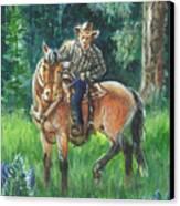 Juel Riding Chiggy-bump Canvas Print by Dawn Senior-Trask