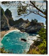 Julia Pfeiffer State Park Falls Canvas Print by Connie Cooper-Edwards