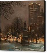 Juneau Park Milwaukee Canvas Print by Tom Shropshire