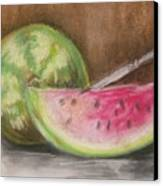 Just Watermelon Canvas Print by Leslie Manley
