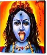 Kali  -hindu Goddess Canvas Print by Carmen Cordova