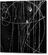 Kaon Proton Collision Canvas Print by SPL and Photo Researchers