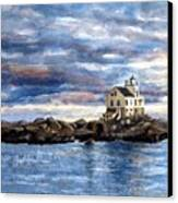 Katland Lighthouse Canvas Print by Janet King