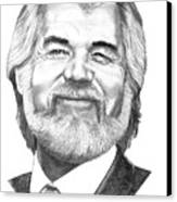 Kenny Rogers Canvas Print by Murphy Elliott