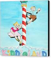 Kiddie Land Canvas Print by Glenda Zuckerman