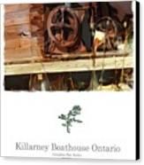 Killarney  Ontario Boathouse Poster Series Canvas Print by Bob Salo