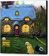 Kinkade's Worst Nightmare 2  Canvas Print by Leah Saulnier The Painting Maniac
