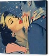 Kiss Goodnight Canvas Print by English School