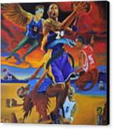 Kobe Defeating The Demons Canvas Print by Luis Antonio Vargas