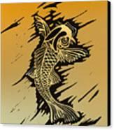 Koi 2 Canvas Print by Jeff DOttavio