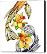 Koi Canvas Print by Sheryl Unwin