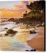 Koki Beach Sunrise Canvas Print by Inge Johnsson