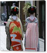 Kyoto Geishas Canvas Print by Jessica Rose