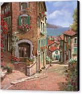 La Discesa Al Mare Canvas Print by Guido Borelli