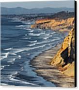 La Jolla Cliffs Over Blacks Canvas Print by Russ Harris