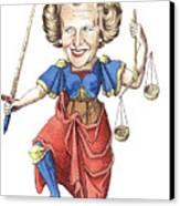 La Justice Canvas Print by Debbie  Diamond
