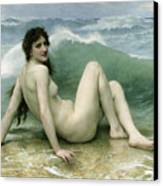 La Vague Canvas Print by William Adolphe Bouguereau