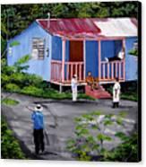 La Vida En Las Montanas De Moca Canvas Print by Luis F Rodriguez