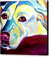 Lab - Luna Canvas Print by Alicia VanNoy Call