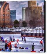 Labatt Pond Hockey 2011 Canvas Print by Don Nieman