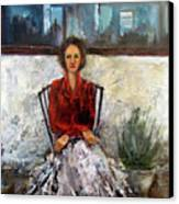 Lady In Waiting Canvas Print by Mary St Peter