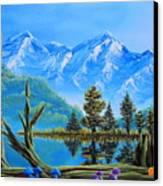 Lake Matheson Mushrooms Canvas Print by Joshua Bales