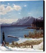 Lake Tahoe Canvas Print by Albert Bierstadt