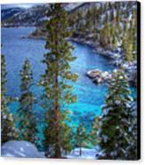 Lake Tahoe Winterscape Canvas Print by Scott McGuire