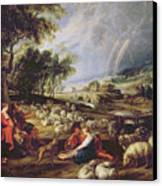 Landscape With A Rainbow Canvas Print by Rubens