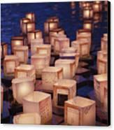 Lantern Floating Ceremony Canvas Print by Brandon Tabiolo - Printscapes