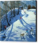 Large Snowball Zermatt Canvas Print by Andrew Macara