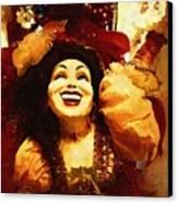 Laughing Gypsy Canvas Print by Deborah MacQuarrie