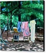 Laundry Day 1800 Canvas Print by Stan Hamilton