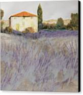 Lavender Canvas Print by Guido Borelli