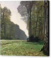 Le Pave De Chailly Canvas Print by Claude Monet