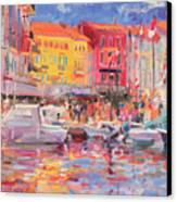 Le Port De St Tropez Canvas Print by Peter Graham