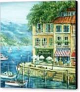 Le Port Canvas Print by Marilyn Dunlap