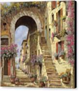 Le Scale E Un Arco Canvas Print by Guido Borelli