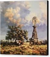 Lea County Memories Canvas Print by Wanda Dansereau