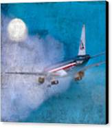 Leavin' On A Jet Plane Canvas Print by Rebecca Cozart