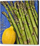 Lemon And Asparagus  Canvas Print by Garry Gay