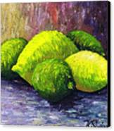 Lemons And Limes Canvas Print by Kamil Swiatek