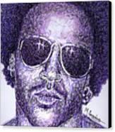Lenny Kravitz Canvas Print by Maria Arango