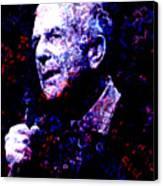 Leonard Cohen Canvas Print by Tammera Malicki-Wong