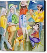 Les Demoiselles Of Santa Cruz V3 Canvas Print by Susan Cafarelli Burke