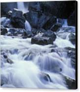 Liberty Falls And River In Liberty Canvas Print by Rich Reid